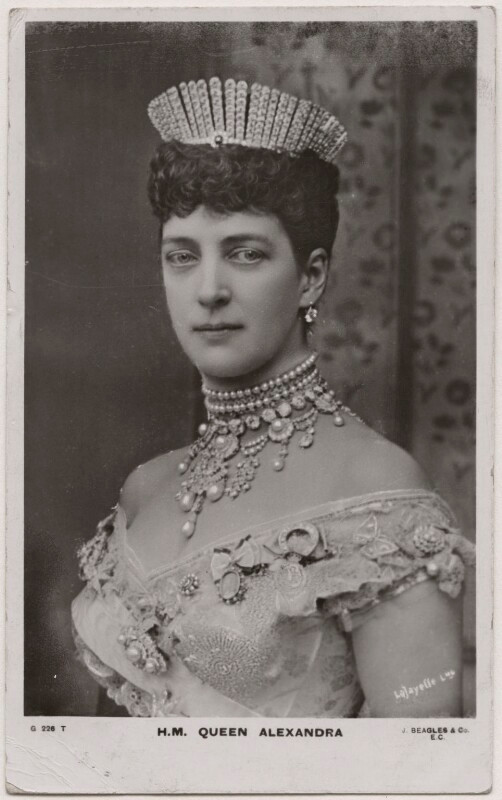 Queen Alexandra  by Lafayette, published by J. Beagles & Co bromide postcard print, circa 1906 (6 July 1893) NPG x19943  © National Portrait Gallery, London