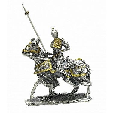 Medieval jousting knight model