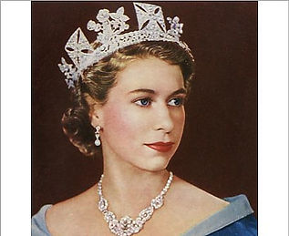 Queen Elizabeth II portrait from 1952. George IV diadem