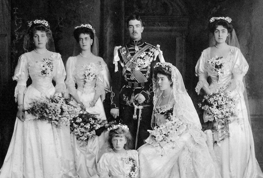 Wedding of Princess Margaret and Prince Gustaf Adolf in 1905.