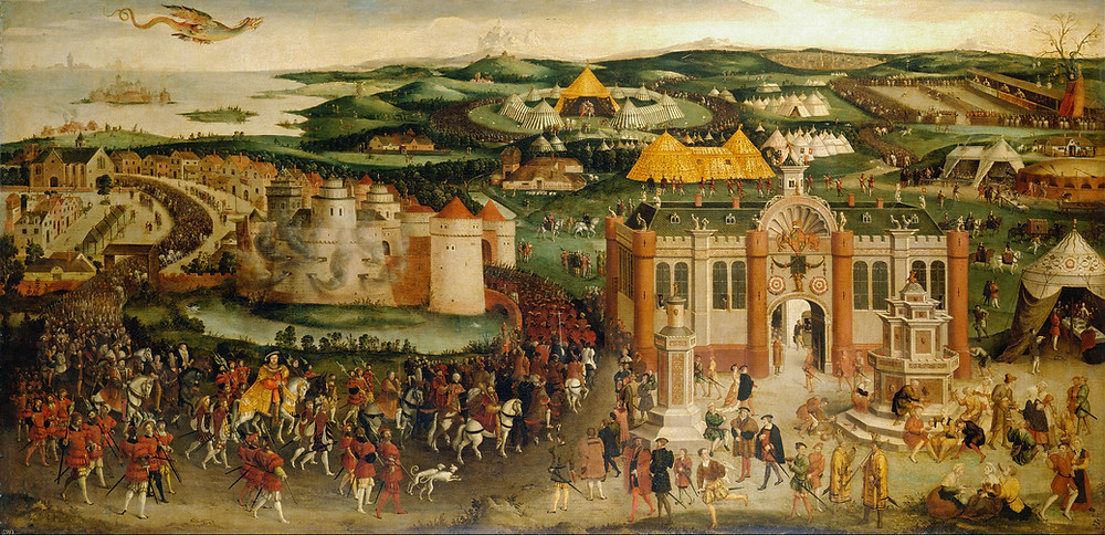 The field of cloth and gold, a painting depicting this great event, & meeting of the king of England, Henry VIII & the king of France, Francis I