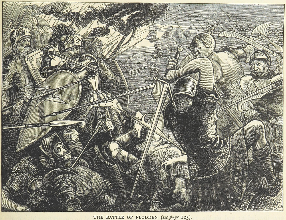 Drawing of the Battle of Flodden, a battle between the English & Scottish Armies in 1513