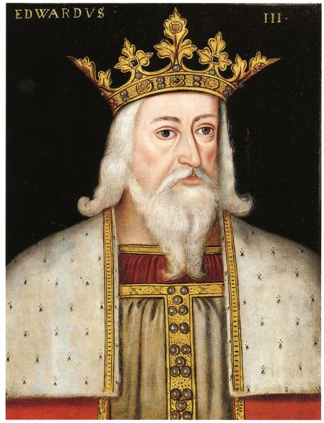 portrait painting of king Edward III of England (13 November 1312 – 21 June 1377) was king of England and Lord of Ireland from January 1327 until his death in 1377.Edward III transformed the Kingdom of England into one of the most formidable military powers in Europe.