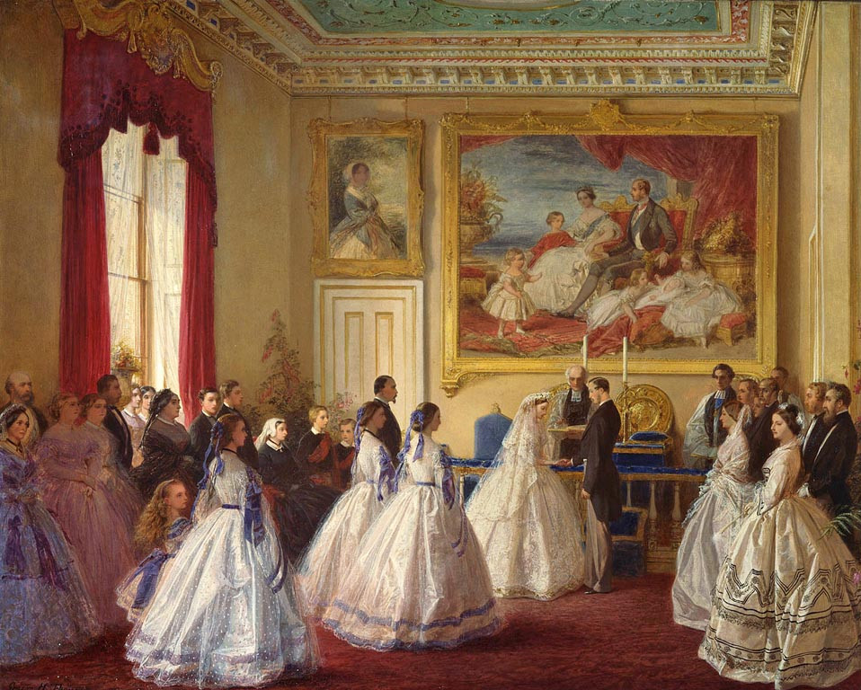 The Marriage of Princess Alice, 1st July 1862, by GEORGE HOUSMAN THOMAS. Royal Collection Trust/© Her Majesty Queen Elizabeth II 2020