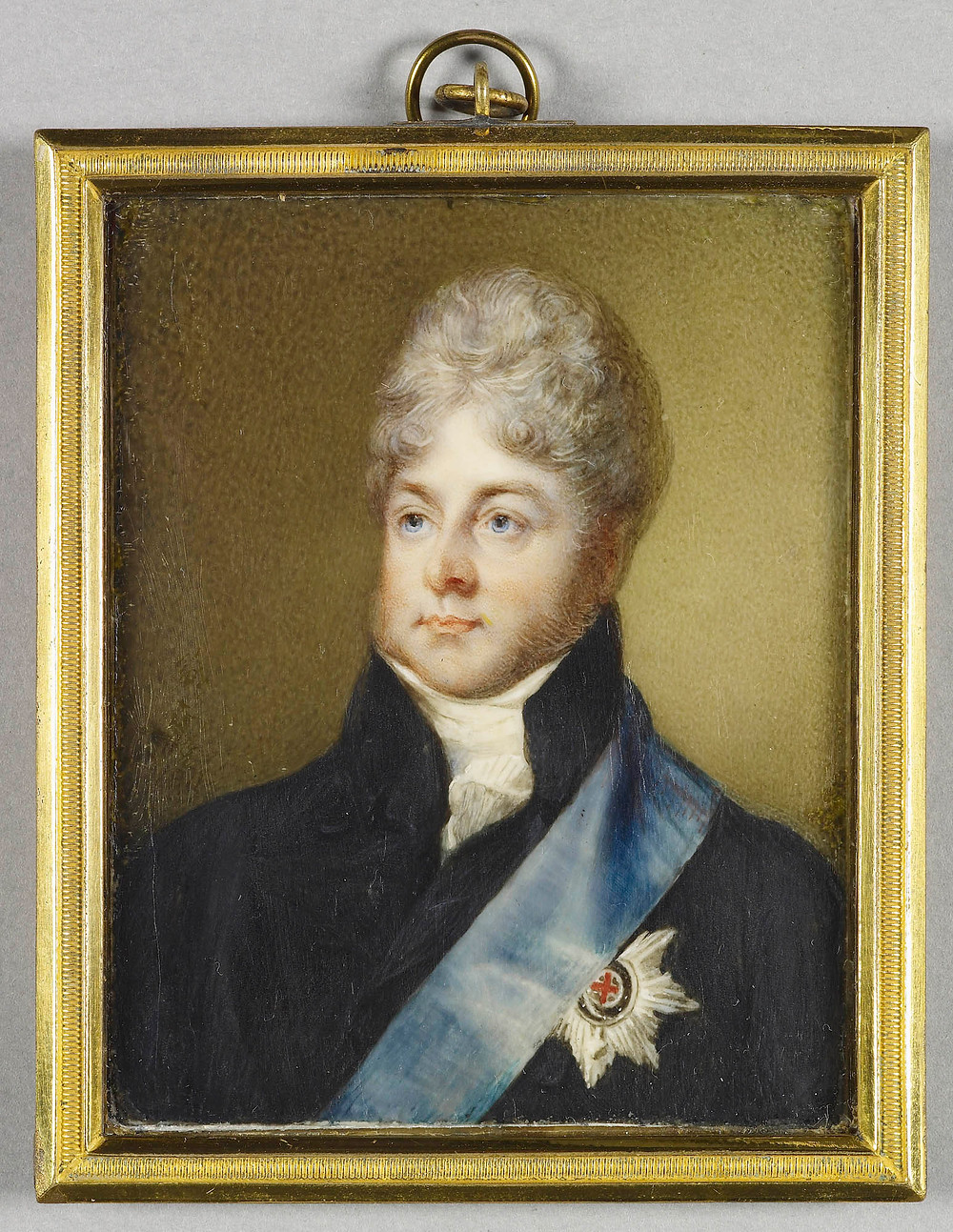 George IV (1762-1830) Signed and dated 1811 by Horace Hone portrait painting