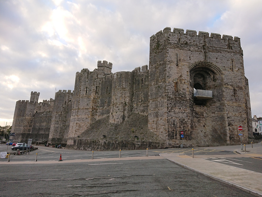 Caernarfon Castle, Edward I's masterpiece, medieval stronghold, castle in North Wales