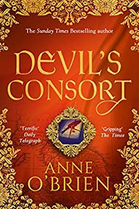 Devil's Consort  book cover - a historical fiction novel by Anne O'Brien