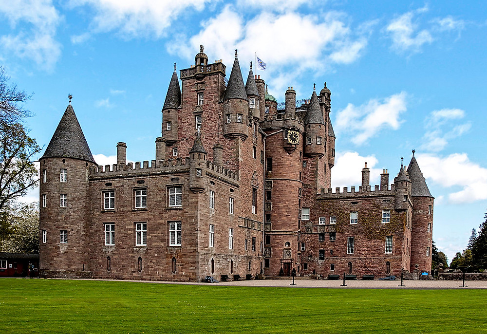 Photograph of Glamis Castle in Scotland