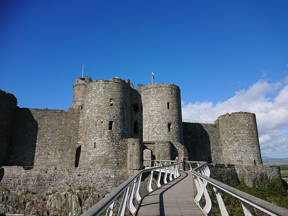 Harlech castle in Harlech, North Wales