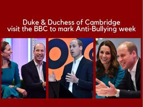 Duke & Duchess of Cambridge visit the BBC to mark Anti-Bullying week