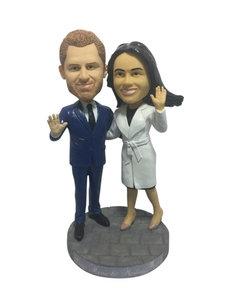 Harry & Meghan Royal bobblehead figure
