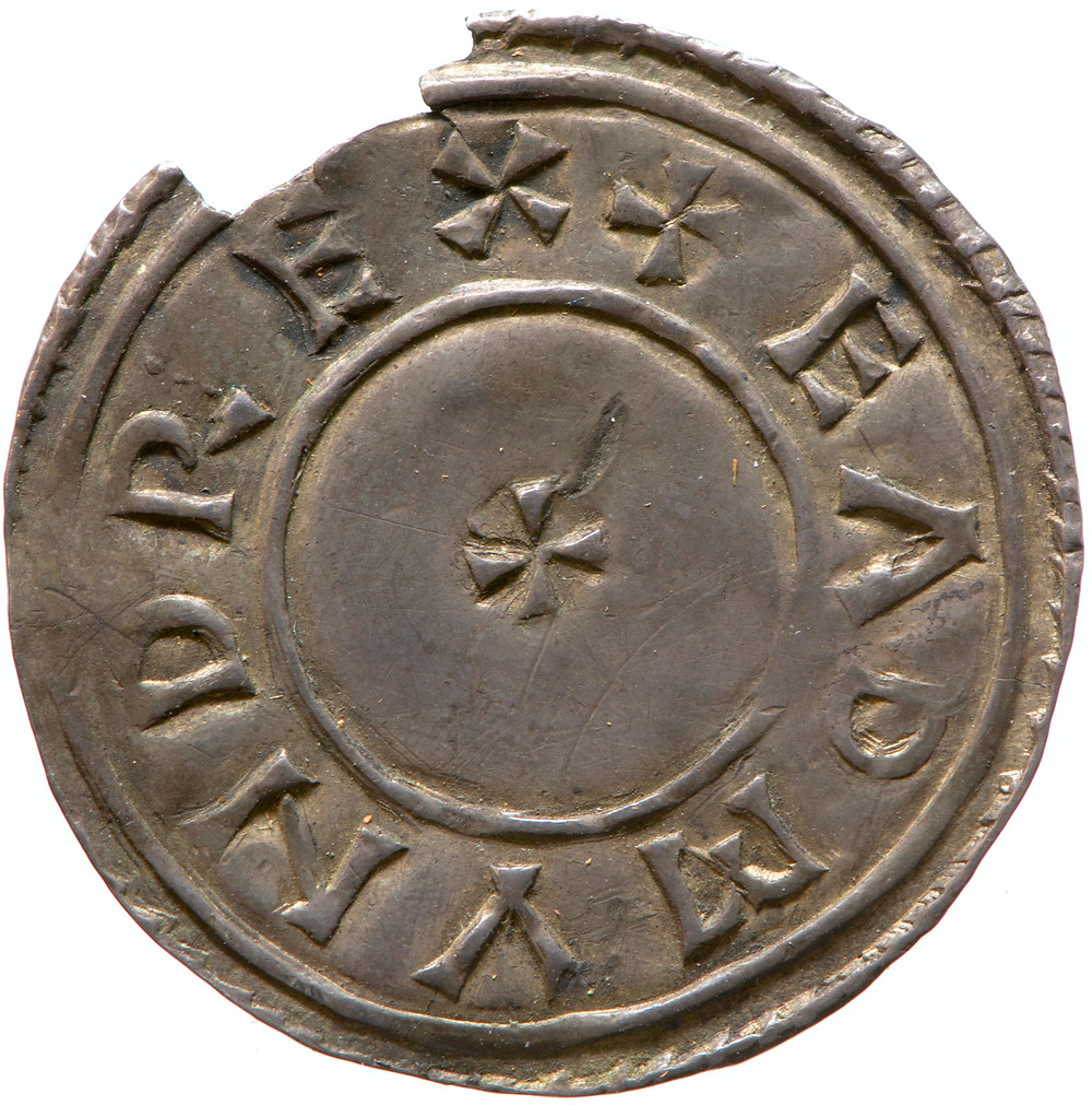 picture of a Silver penny of Edmund I, king of the English