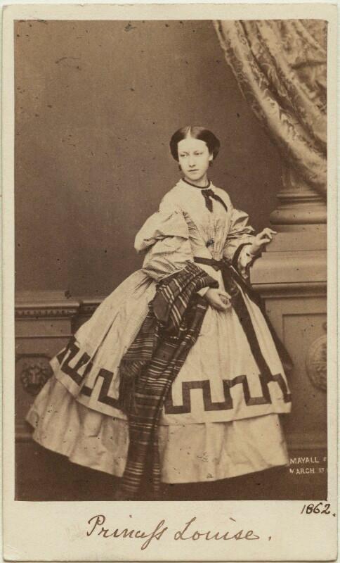Princess Helena Augusta Victoria of Schleswig-Holstein  by John Jabez Edwin Mayall albumen carte-de-visite, February 1861