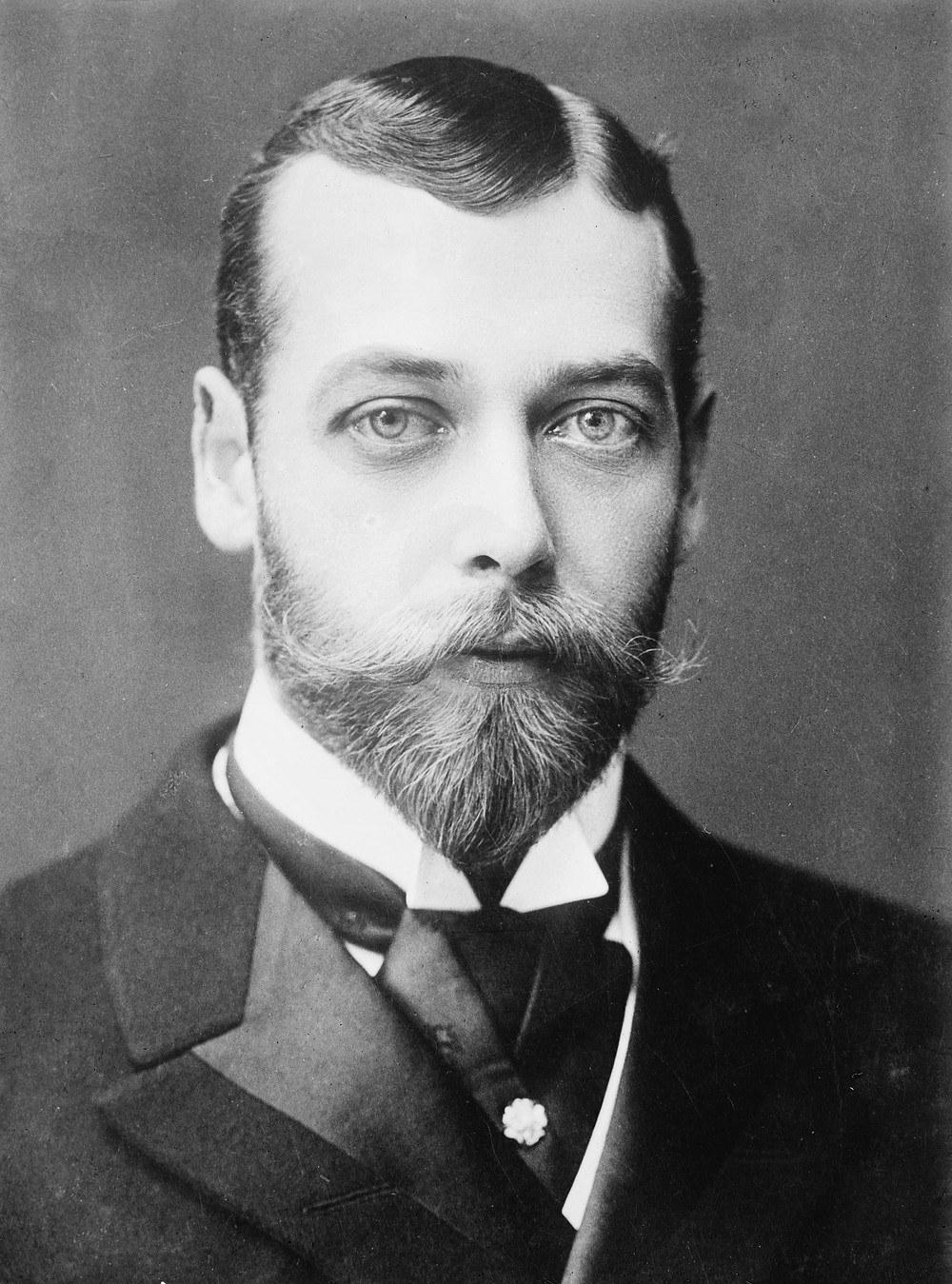 Portrait of King George V, when Duke ofYork, 1893. He was King of was King of the United Kingdom from 1910 until his death in 1936.