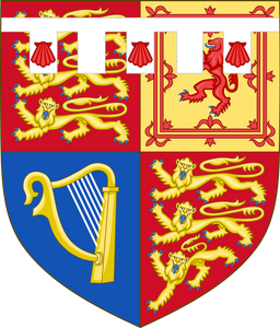 Royal shield of arms of Prince harry, duke of sussex.