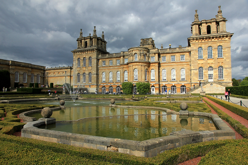 Blenheim Palace as seen from the Palace gardens