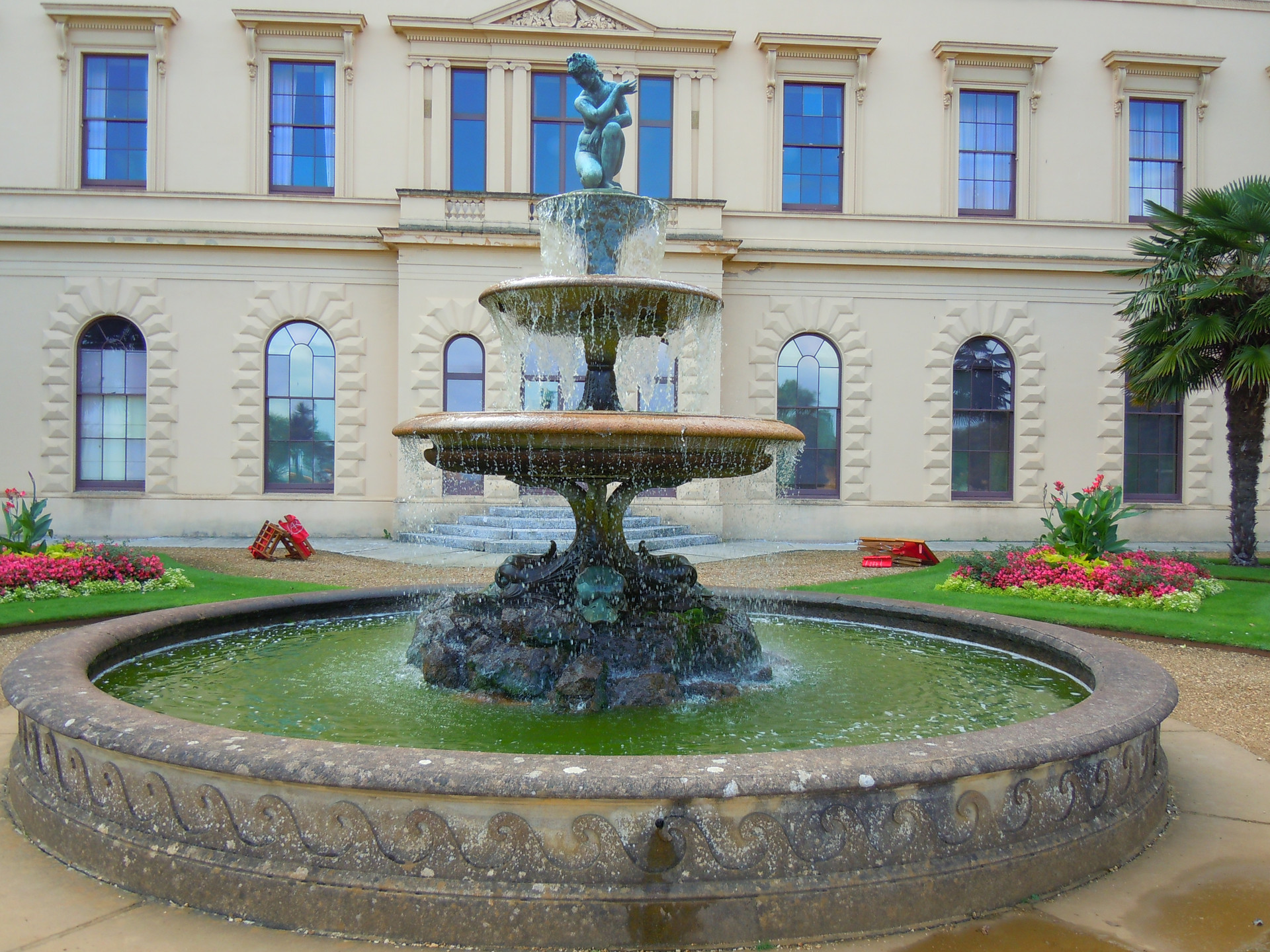 Fountain in the gardens of Osborne House