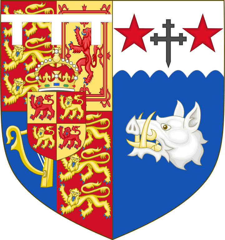 Coat of Arms of Camilla, Duchess of Cornwall (born 1947), wife of Charles, Prince of Wales (2005-present)