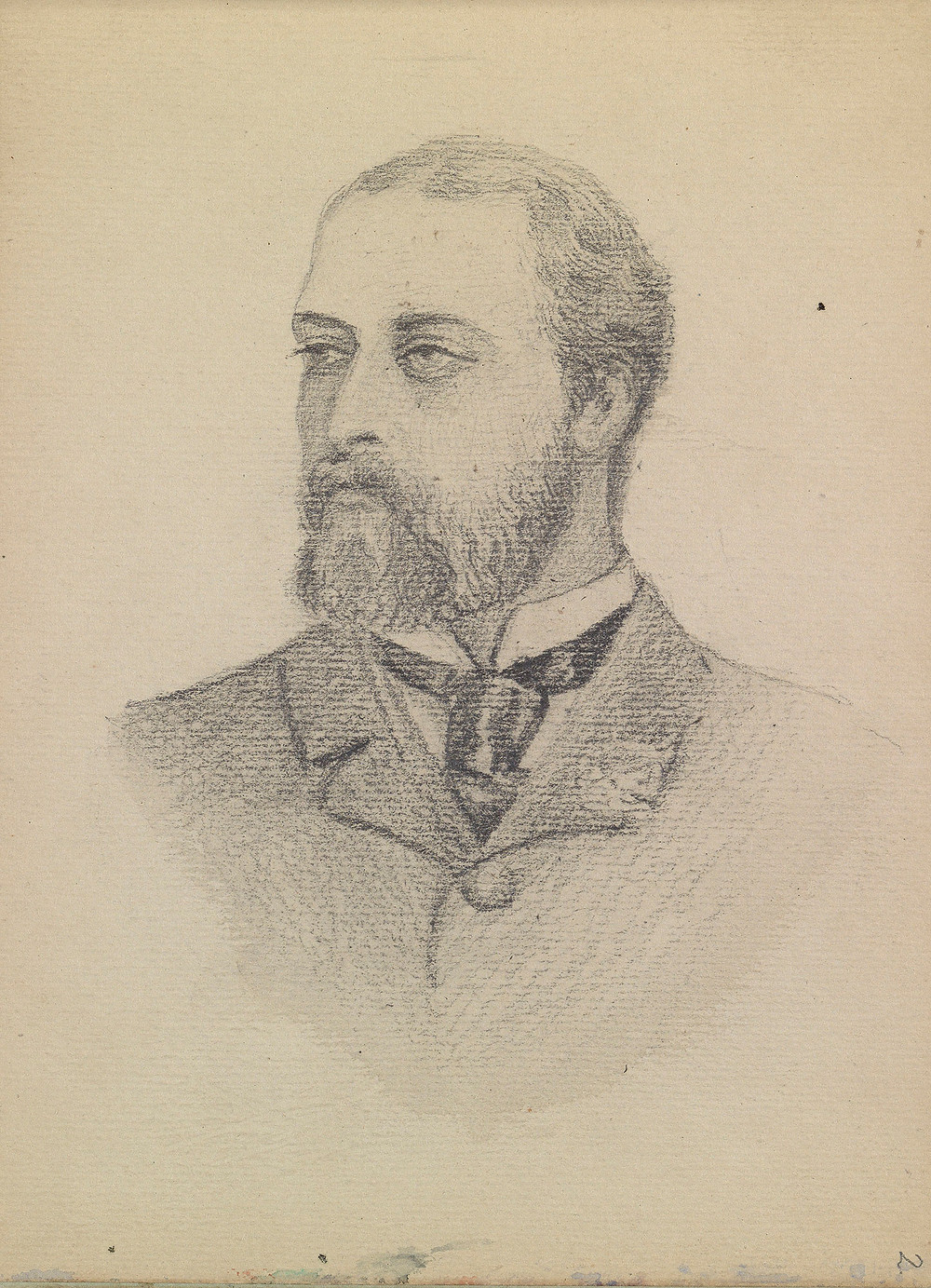 sketch Edward VII, when Prince of Wales c. 1880 by Queen Alexandra when Princess of Wales  Royal Collection Trust/(c) Her Majesty Queen Elizabeth II 2019