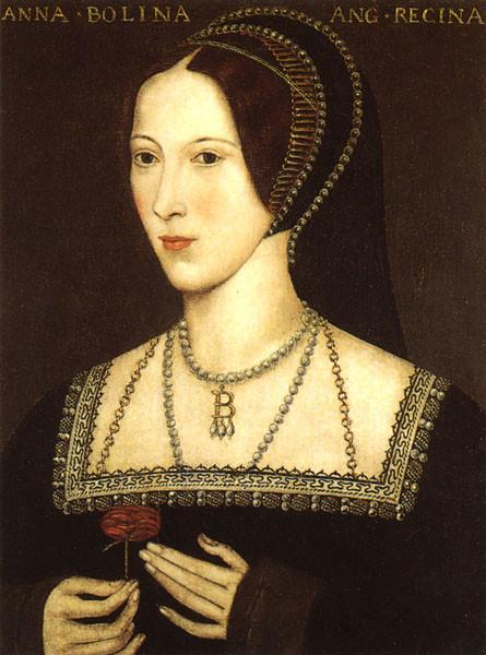 Anne Boleyn, Queen of England portrait painting. Royal history