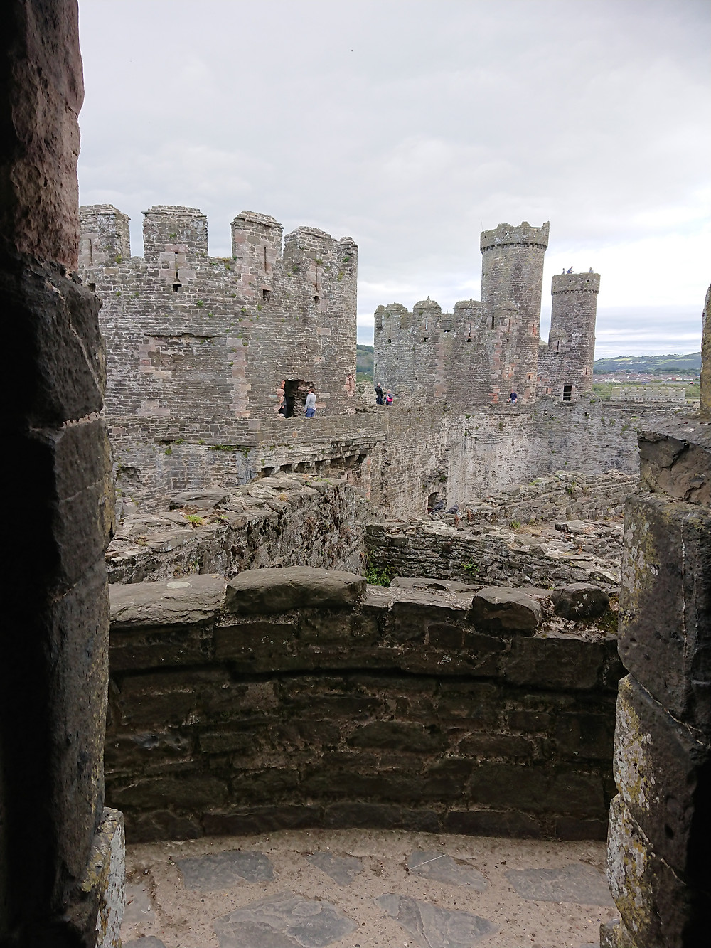 Conwy castle, inside a medieval castle built by Edward I king of England