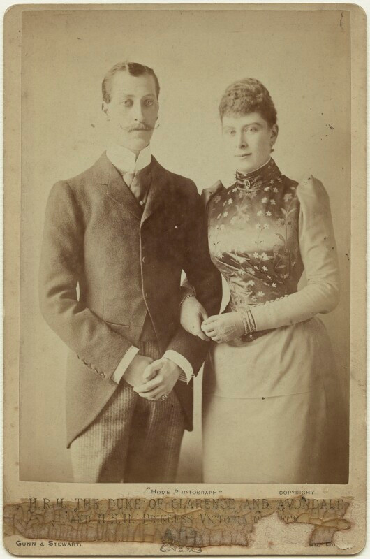 Prince Albert Victor, Duke of Clarence & Avondale, son of Edward VII & Queen Alexandra, was engaged to Princess Mary of Teck, until his sudden death in 1892. Mary would later marry his brother Prince George.