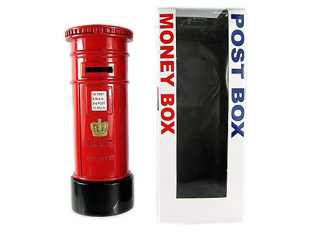 London Red Post Money Box