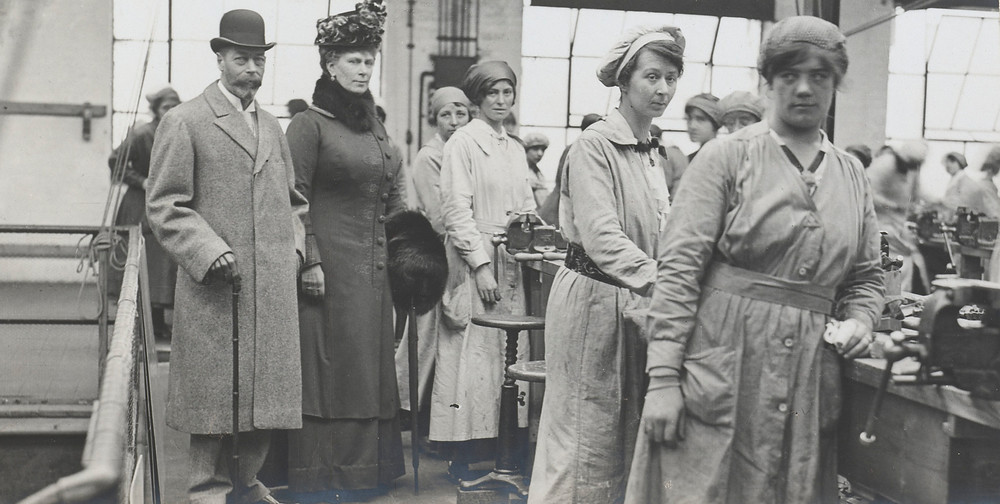 King George V and Queen Mary visit the Sopwith Aviation Works 19 Apr 1917