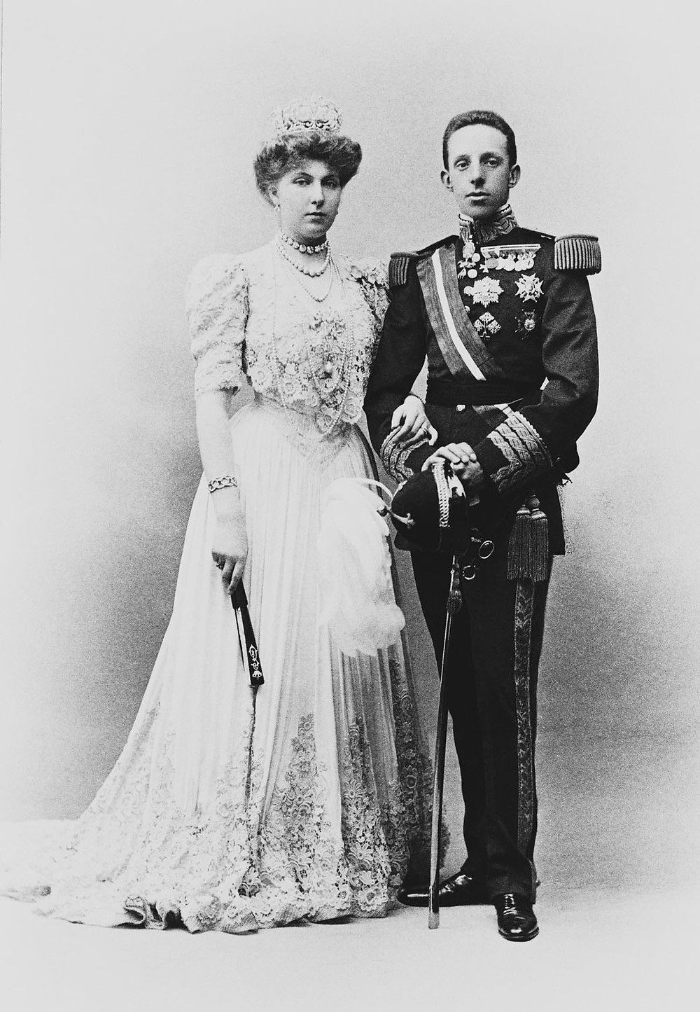 King Alfonso XIII and Queen Victoria Eugenie circa 1906. Royal Collection Trust/(c) Her Majesty Queen Elizabeth II 2018