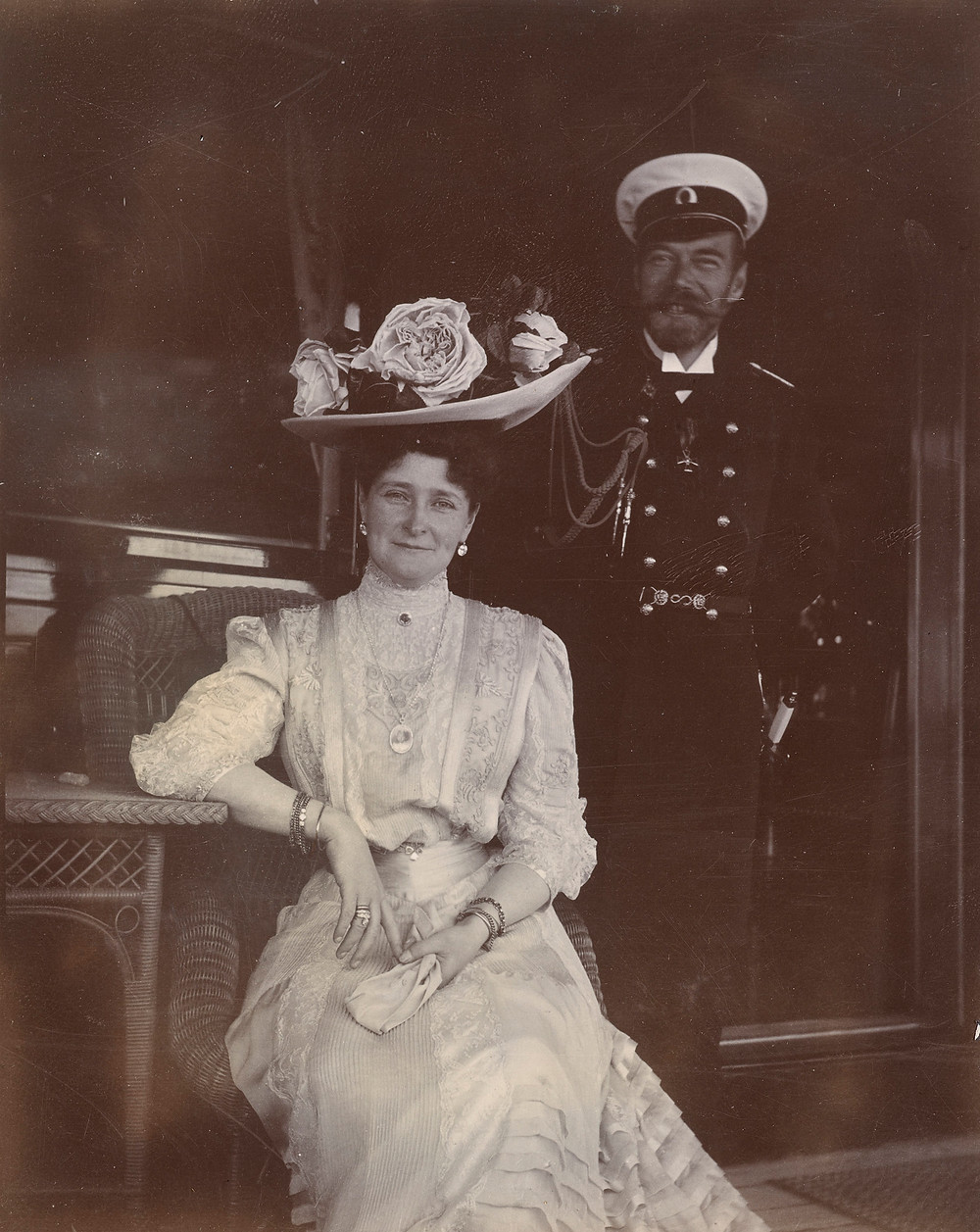Tsar Nicholas II and Empress Alexandra Feodorovna, Jun 1908