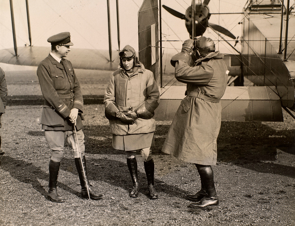 Prince Albert, later King George VI with Royal Flying Corps 11 Oct 1918  Royal Collection Trust/(c) Her Majesty Queen Elizabeth II 2018
