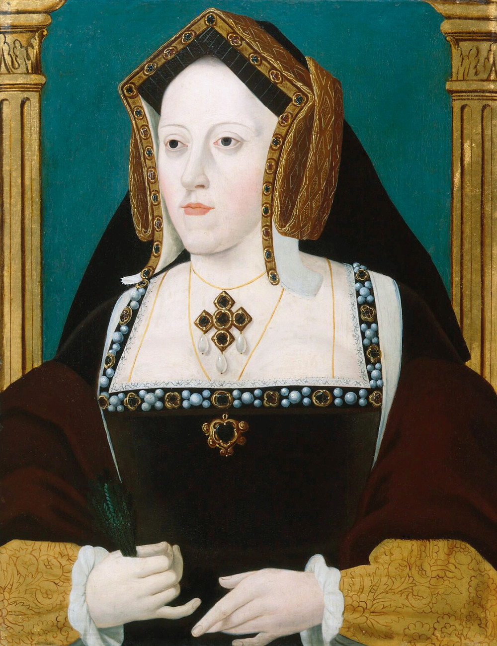 Catherine of Aragon, Queen of England as the first wife of Henry VIII. portrait painting