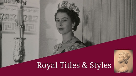 royal titles and styles cover . Queen Elizabeth II