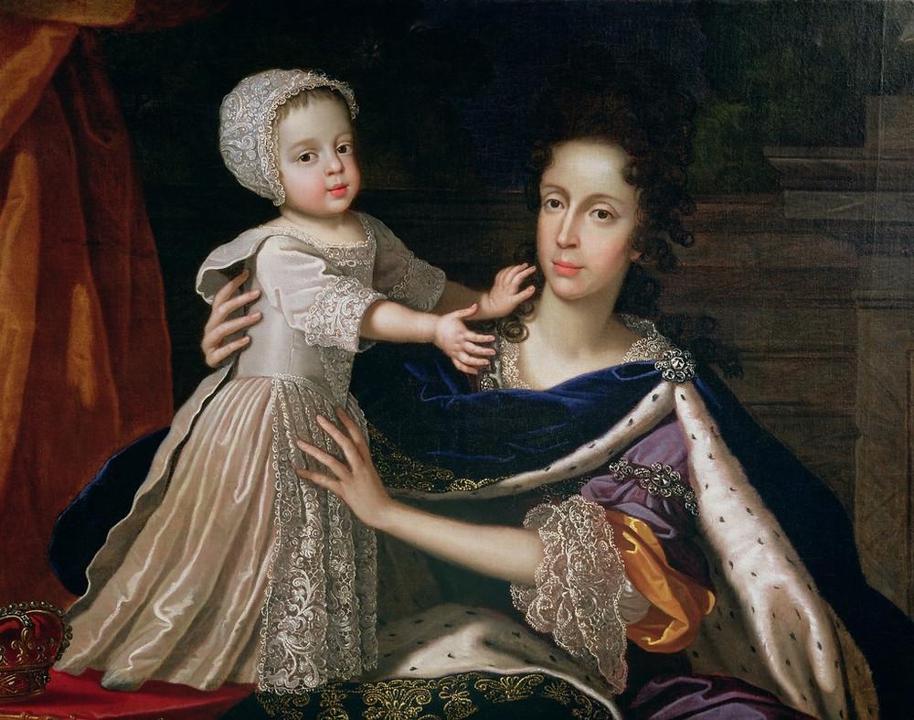 c.1690's painted by Benedetto Gennari II. source : http://images.bridgeman.co.uk/cgi-bin/bridgemanImage.cgi/400.MOU.8275610.7055475/162549.JPG