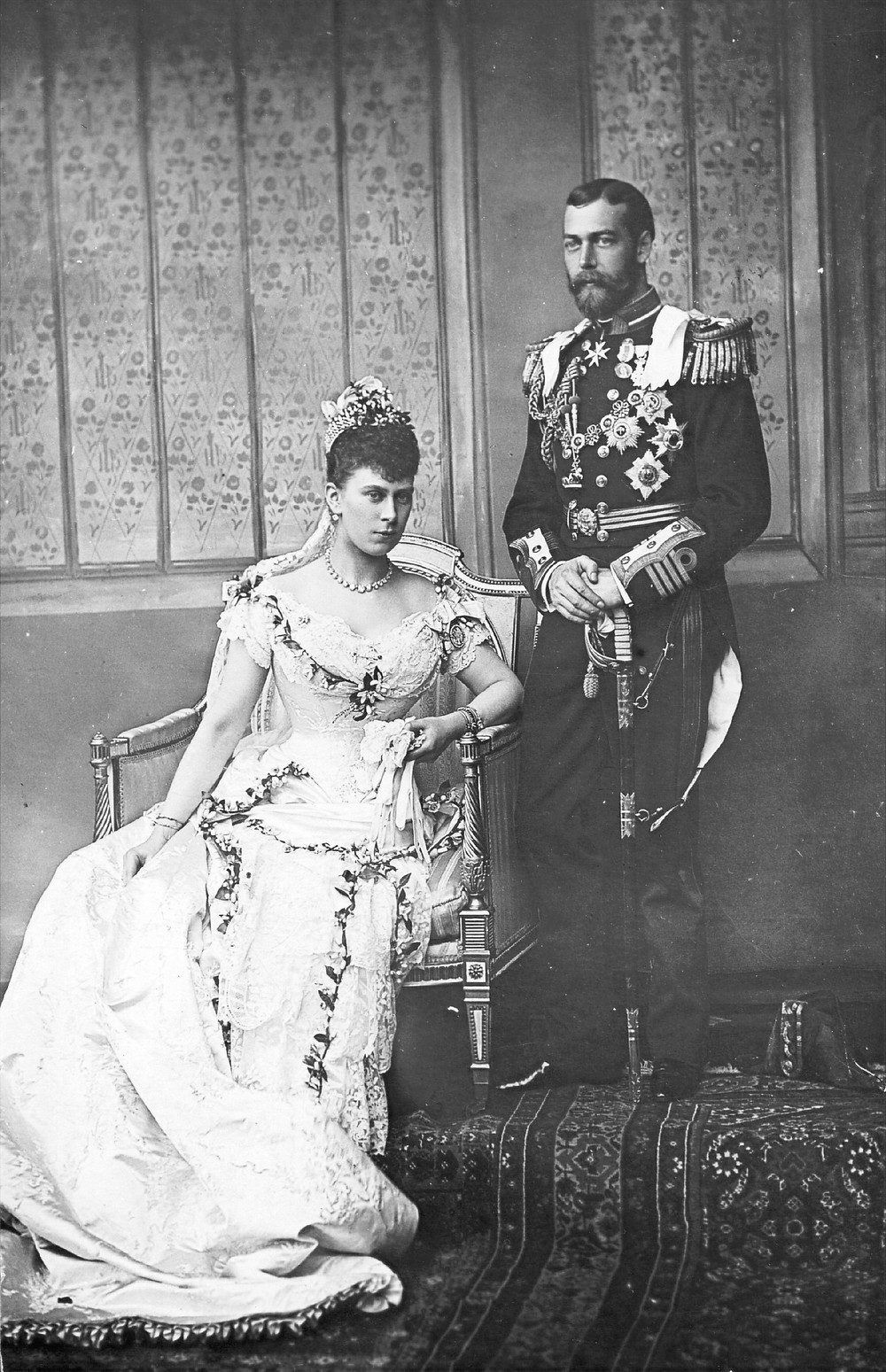 1893 George and Mary on their wedding day