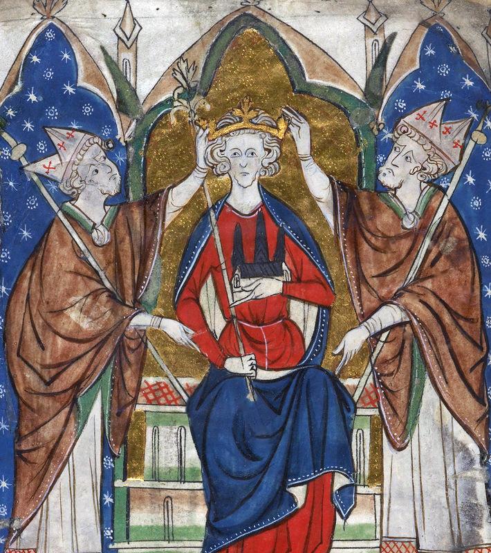 Henry III coronation, By AnonymousUnknown author (Cotton Vitellius A. XIII) [Public domain], via Wikimedia Commons