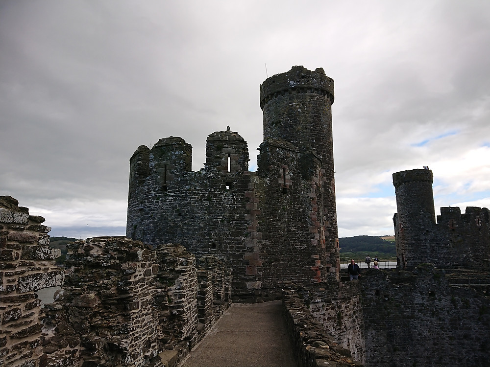 The wall walks inside Conwy castle, North Wales