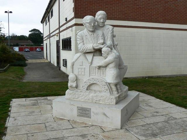 Brian Robert Marshall/Statue in honour of Major Frank Foley, Market Street, Highbridge