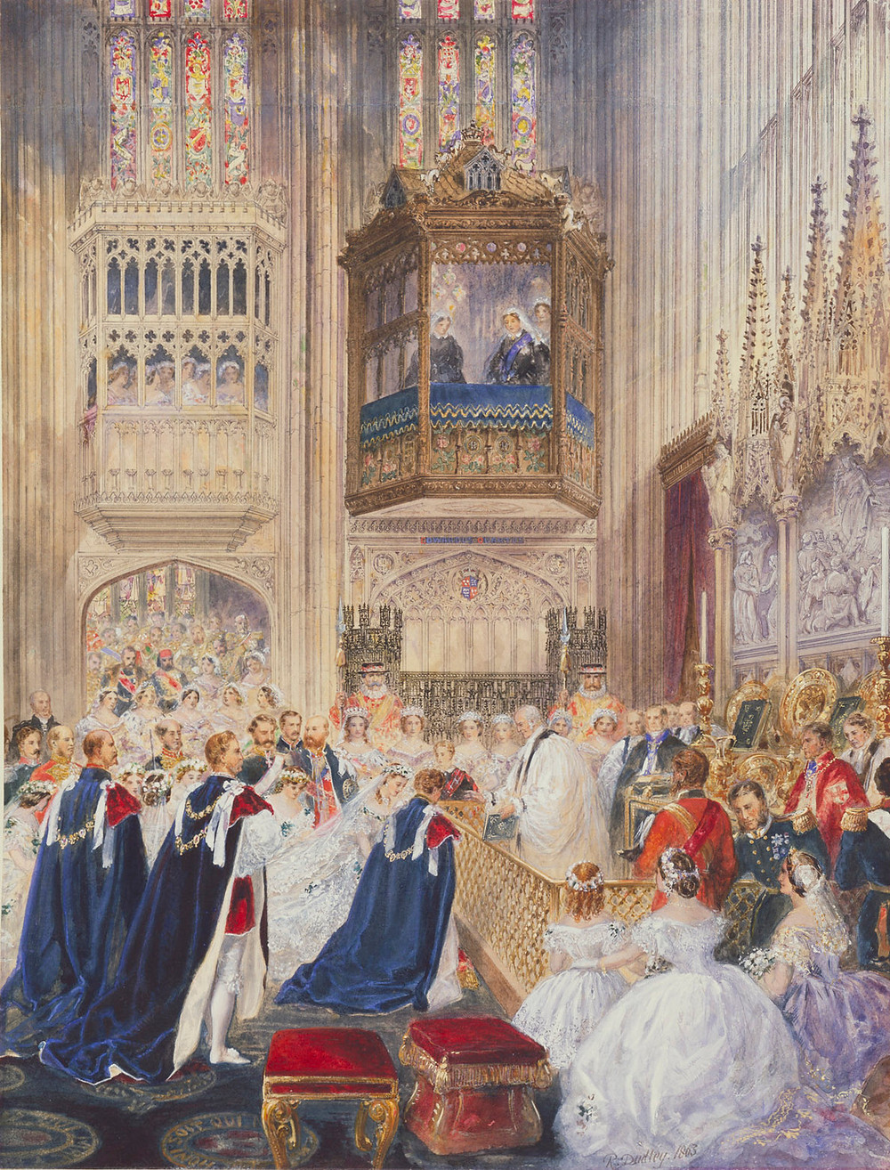 RCIN 921008; The marriage of the Prince of Wales to Alexandra of Denmark, 10 March 1863; Royal Collection Trust/© Her Majesty Queen Elizabeth II 2018