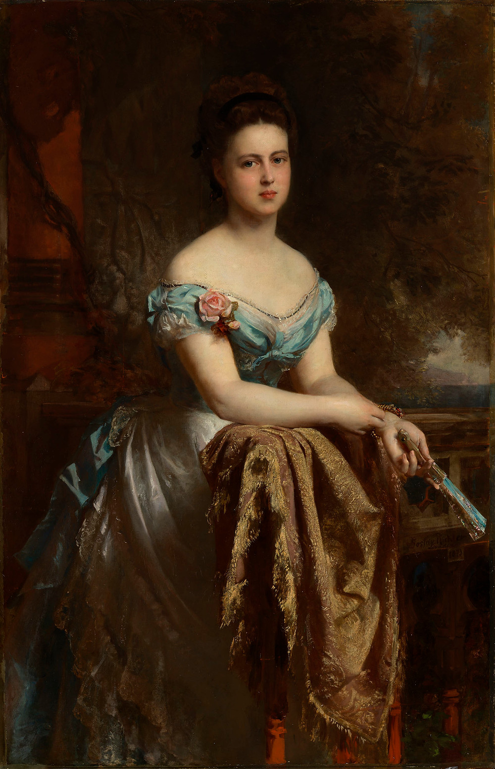 Marie, Duchess of Edinburgh, Grand Duchess of Russia, by GUSTAV RICHTER.   Royal Collection Trust/(c) Her Majesty Queen Elizabeth II 2018