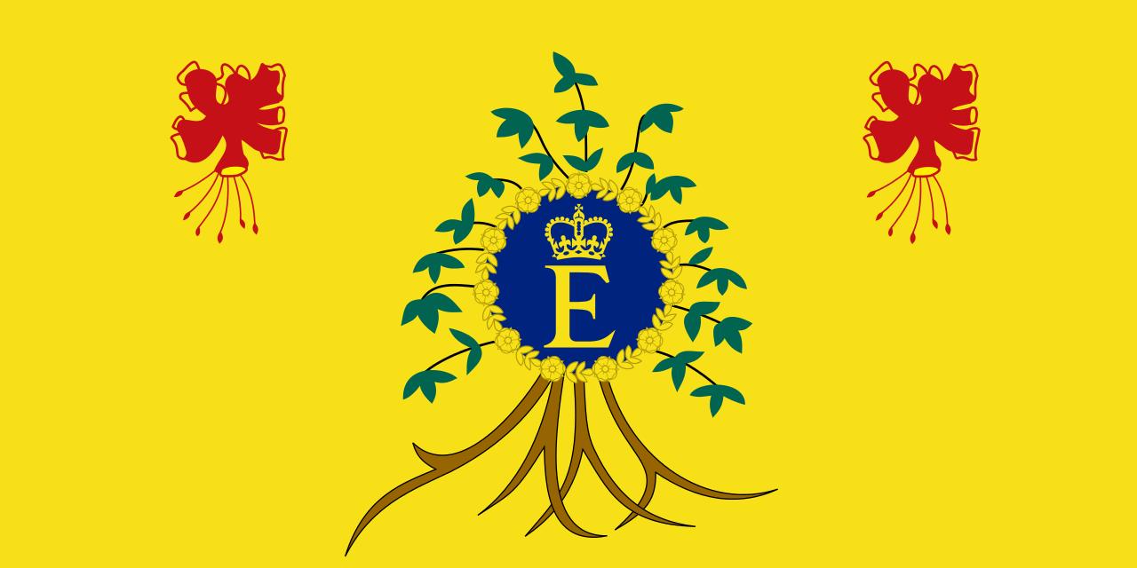 Thec Queen's personal flag of Barbados