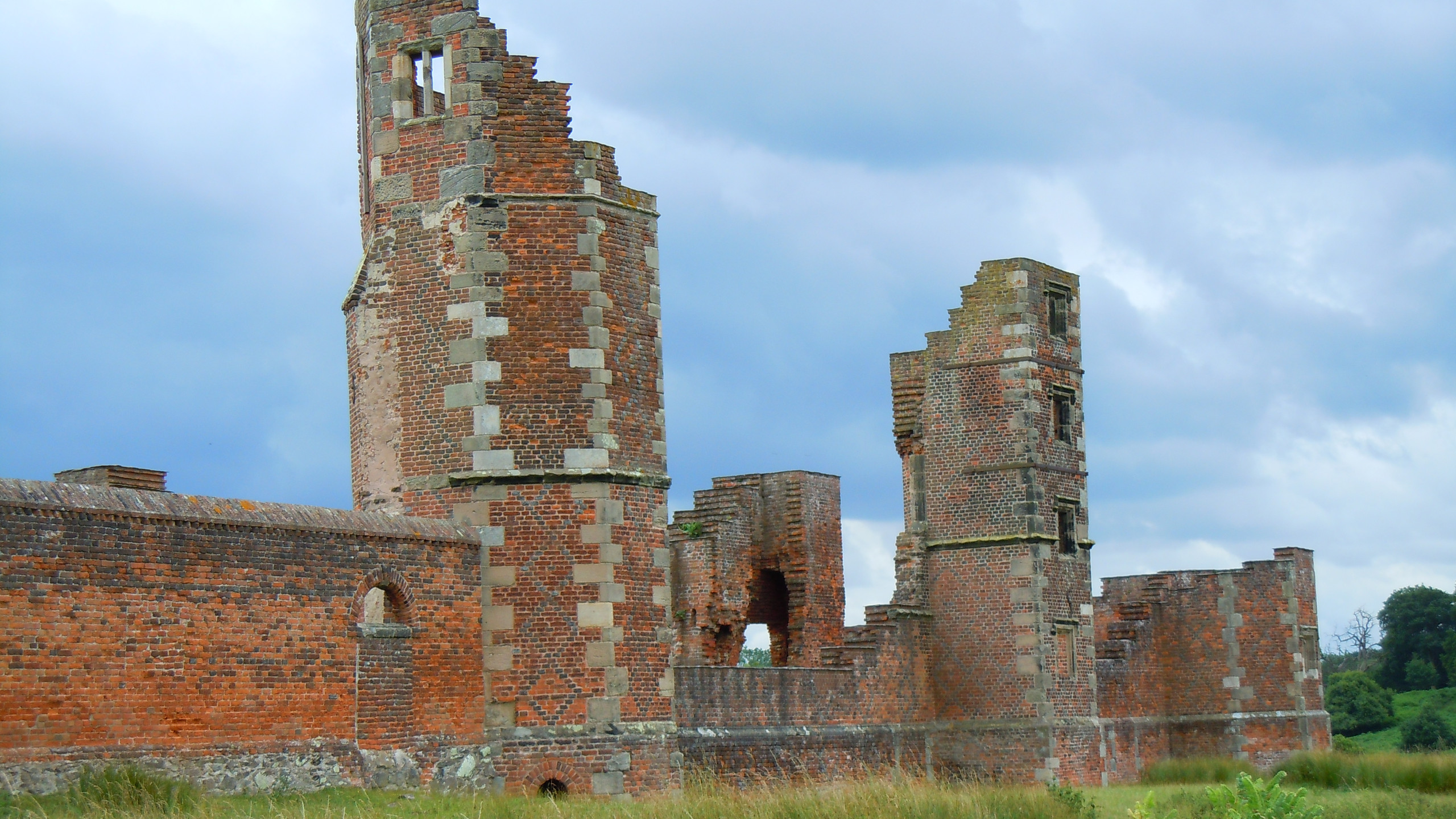 The remains of Bradgate House, home of the Grey family, Lady Jane Grey, Queen of England for nine days was born here.