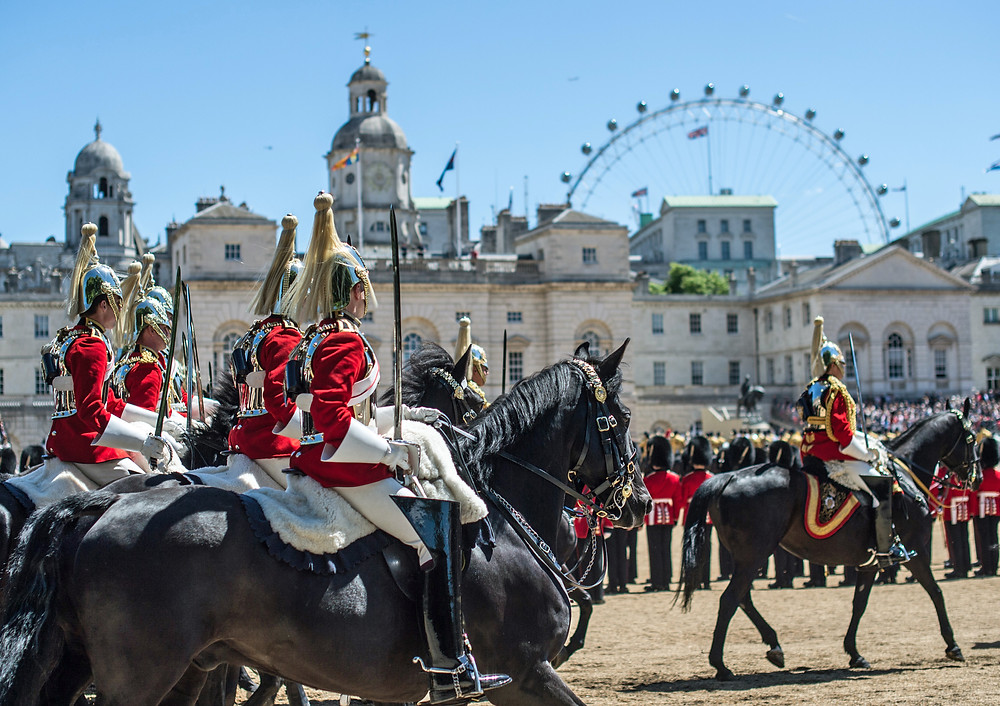 Trooping the Colour at Horseguards Parade, London