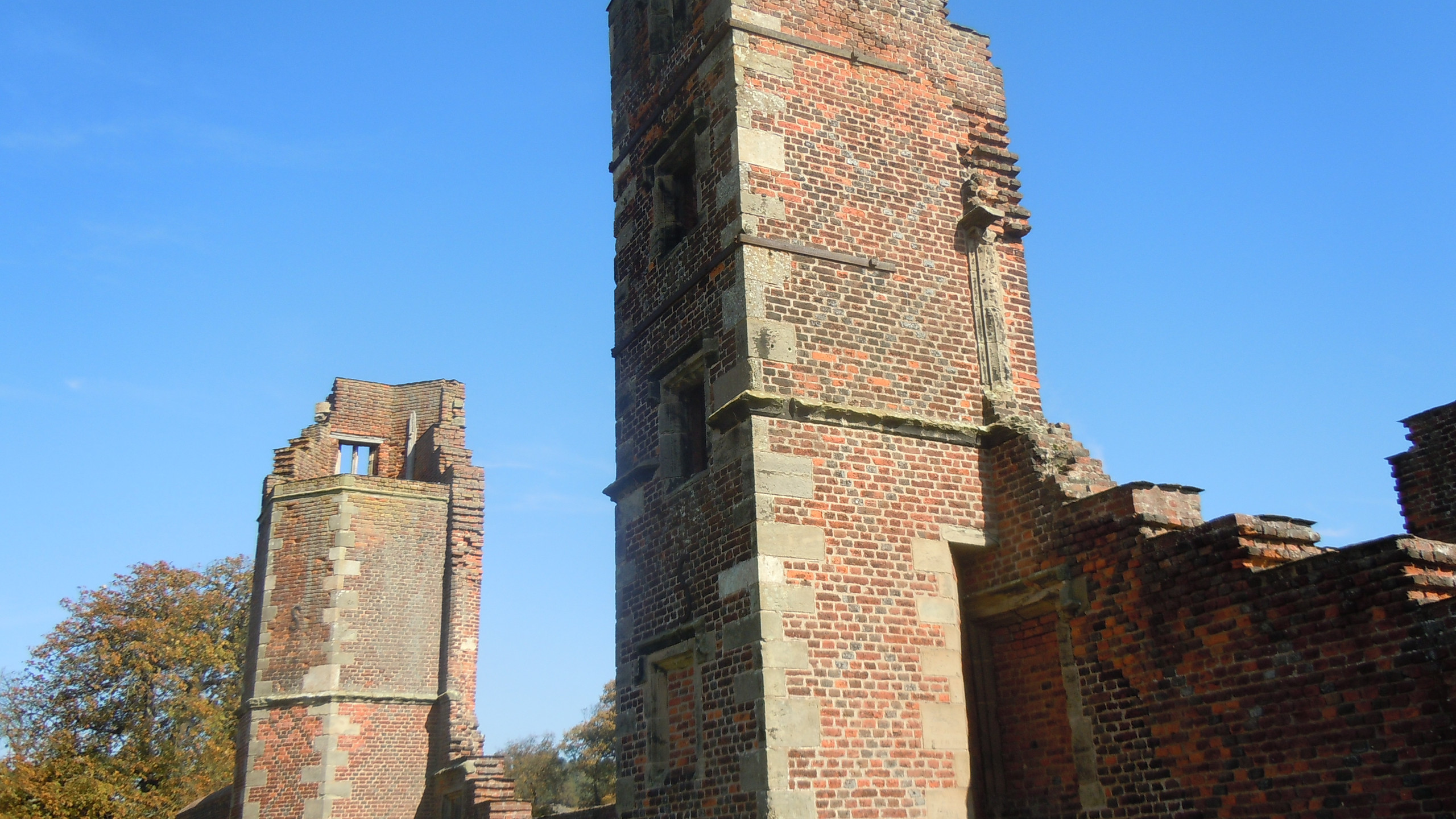 The remains of Bradgate House, home of the Grey family, Lady Jane Grey, Queen of England for nine days was born here. in 1537..
