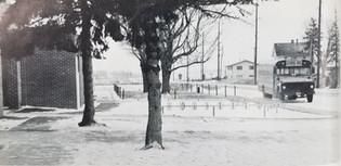 In front of Janesville School, Looking East. 1981