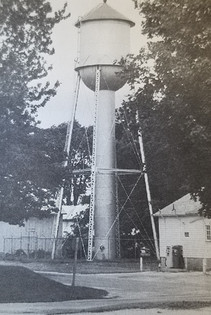 Old Water Tower at corner of Chestnut and 2nd St.