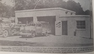 New Fire Station, 1955.  (Currently West Side of Library and City Hall)
