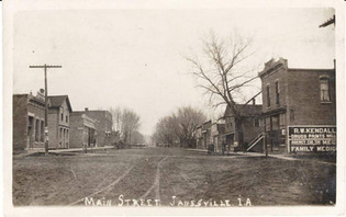Main Street, Early Days.  (Looking North)