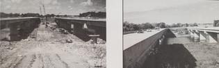 Construction of Highway 218 Bridge. Completed in 1993