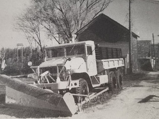Old army truck used for street department work